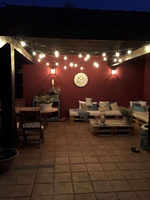 porche con guirnaldas diy pinterest guirnaldas On guirnaldas de luces para terrazas