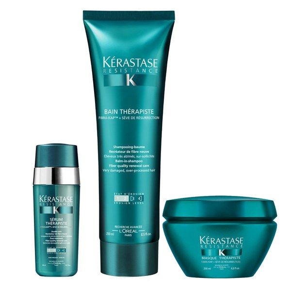 krastase resistance therapiste trio shampooing 250ml masque 200ml et srum 30ml hair pinterest serum shampoos and beauty - Kerastase Cheveux Colors
