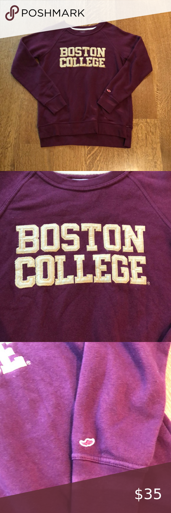 League Boston College Crewneck Maroon Sweatshirt S Sweatshirts Maroon Sweatshirt Sweatshirt Tops [ 1740 x 580 Pixel ]