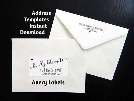 Printable address template for envelope labels avery 2 x wedding printable address template for envelope labels avery 2 x stopboris Choice Image