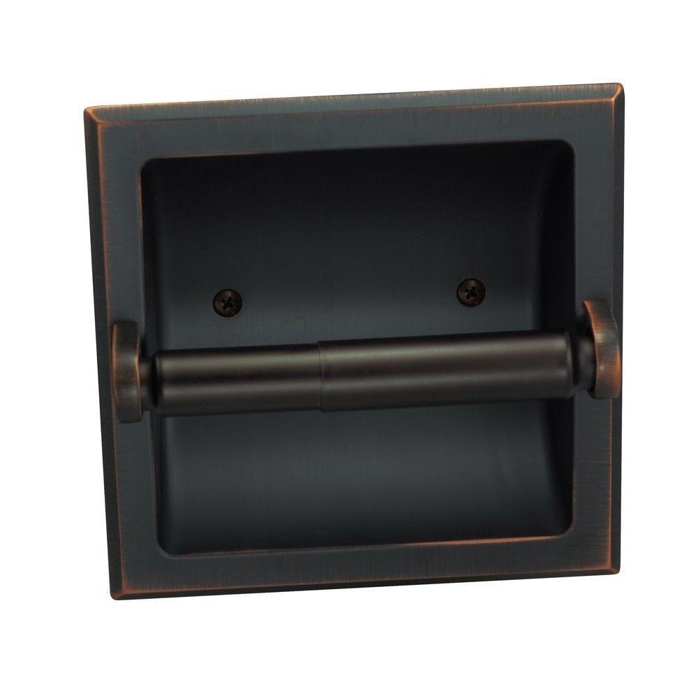 Aurora Oil Rubbed Bronze Recessed Toilet Tissue Paper Holder 49687 Dekorasyon Banyo Dekorasyonu Banyo
