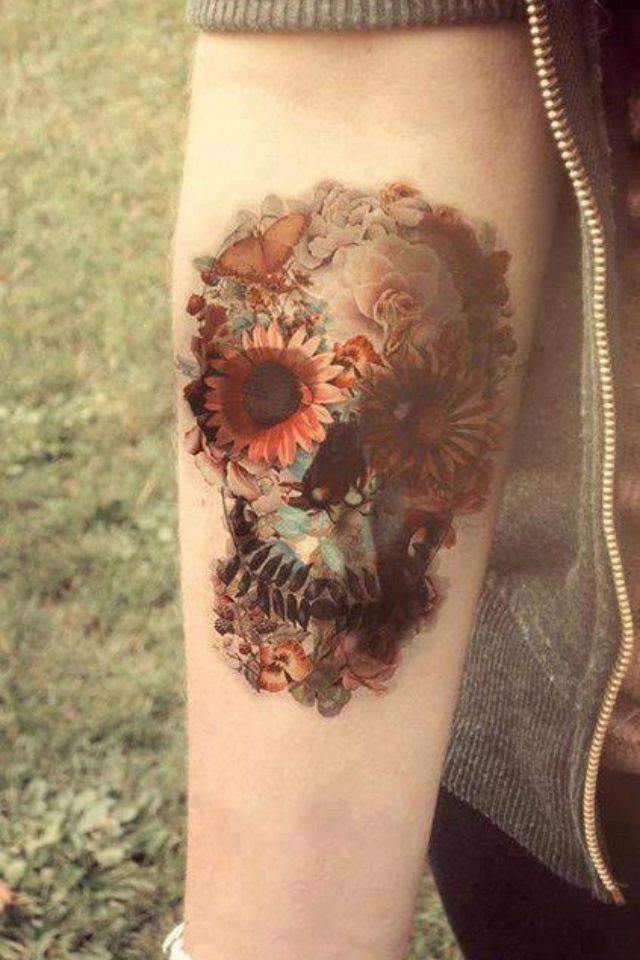 Getting my skull tattoo as a profile, but with this concept...pics to follow!