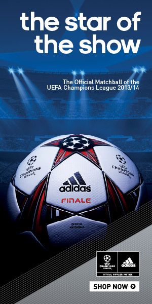 adidas Finale 13 UEFA Champions League Match Soccer Ball: http://www.soccerevolution.com/store/products/ADI_80138_E.php