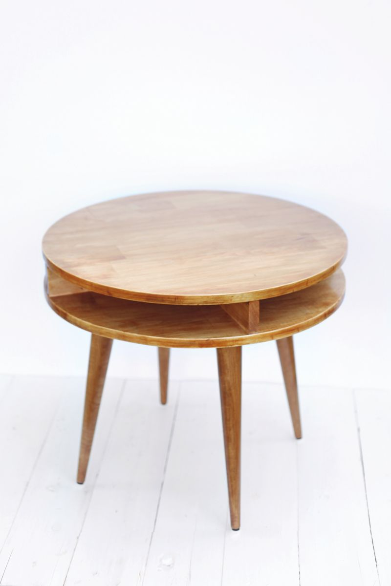 Build This Mid Century Modern Table Yourself Click Through For Instructions