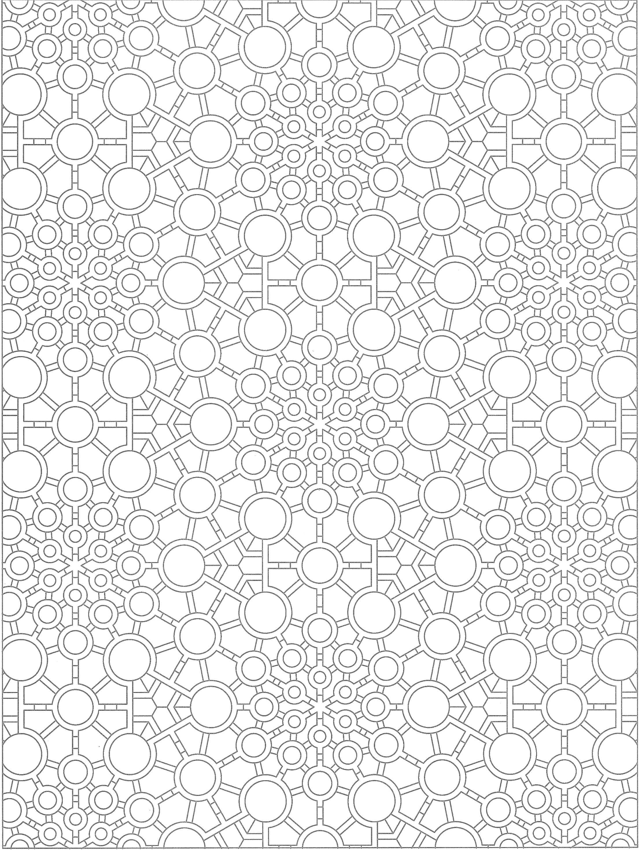 Creative Haven Tessellations Coloring Page Desain