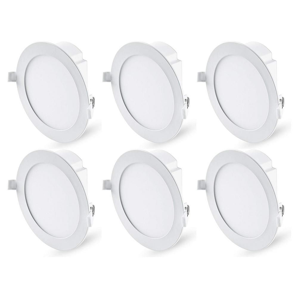 Hyperikon J Box Downlight 6 In 12 Watt 5000k Ne Watt Construction Or Remodel Recessed Integrated Led Kit 6 Pack Hyperjbdl6 50 In 2020 Downlights Recessed Lighting Trim Led Dimmer