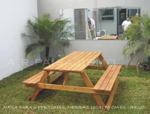 Mesa Rustica De Jardin Troncos Macizas Madera Entera ... - photo#5