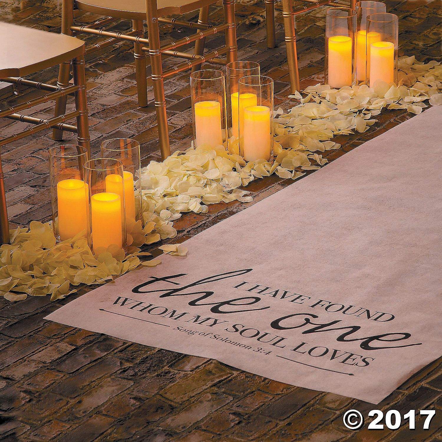 Song Of Solomon Aisle Runner Oriental Trading In 2020 Backyard Wedding Decorations Wedding Aisle Decorations Aisle Runner Wedding