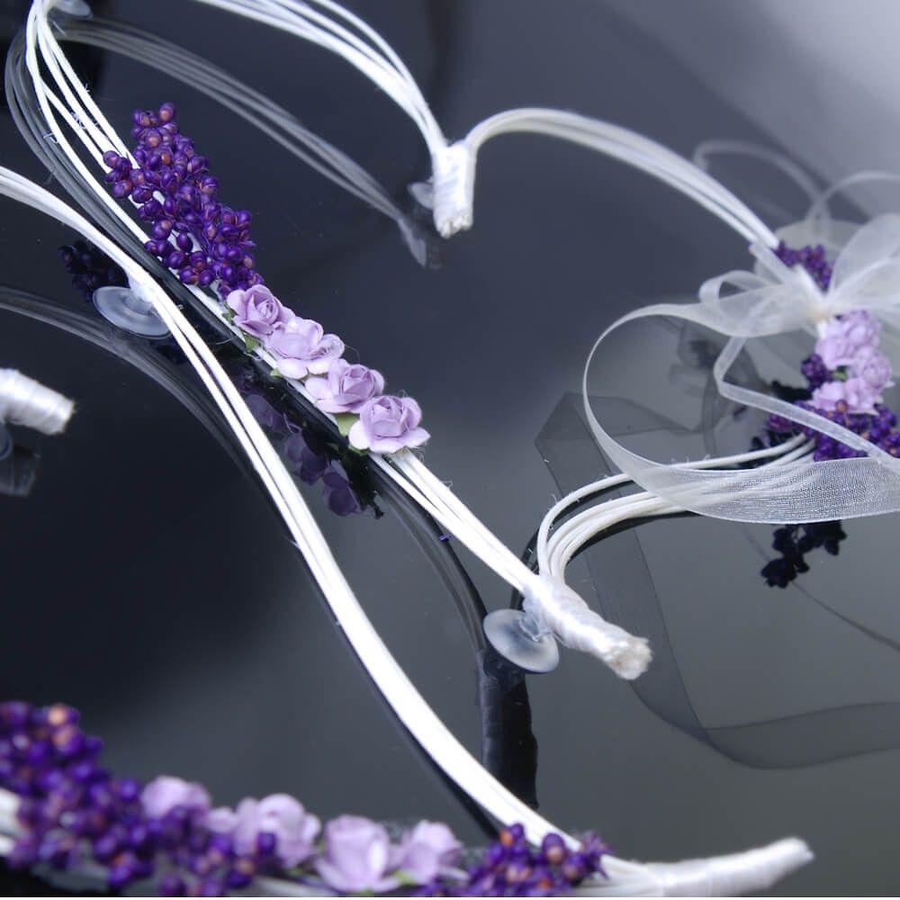 Diese Romantischen Herzen Eignen Sich Perfekt Als Autodeko Zur Hochzeit!  Einfach Mit Saugnäpfen An Der