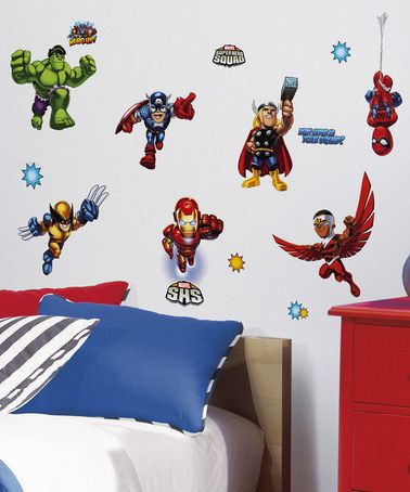 Marvel Super Hero Squad Peel  Stick Wall Decal Set by Marvel