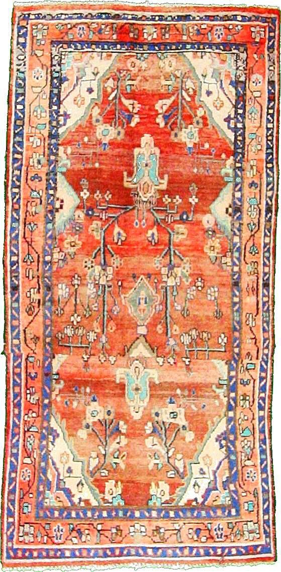 3 39 3 X 6 39 8 Rust Red Hamedan Persian Rugs Textiles