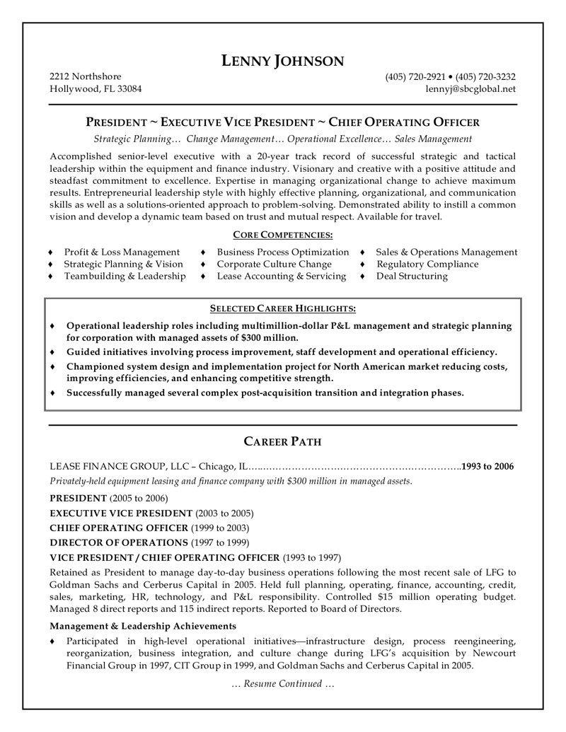 Free Resume Templates Senior Management Freeresumetemplates Management Resume Senior Templat Executive Resume Template Executive Resume Resume Examples