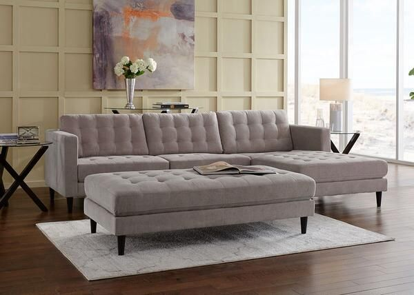 Sydney 2pc Sectional Sydney Gray Was 769 98 Sale 681 43 Sectional Living Room Sectional Harlem Furniture