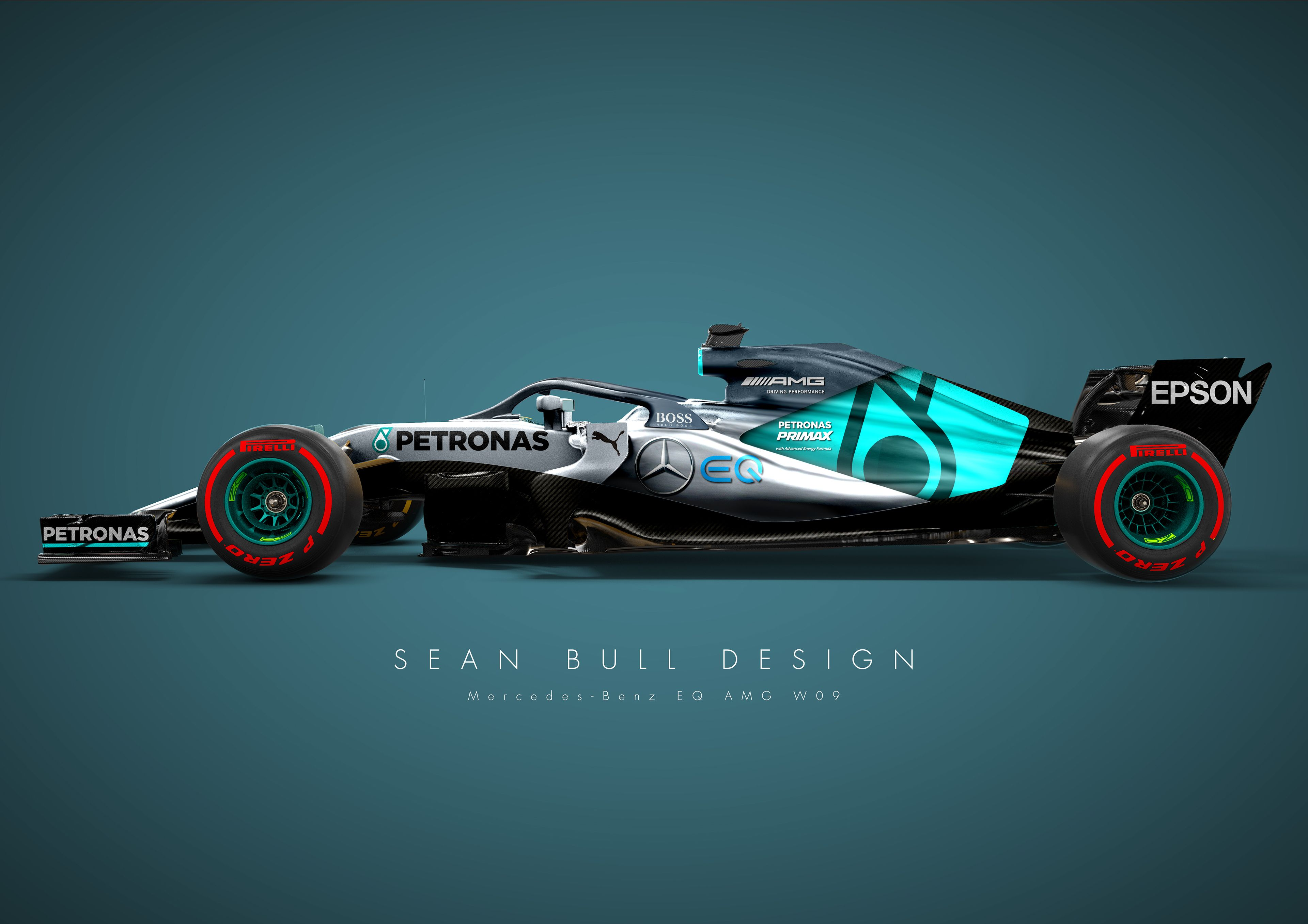 Initial Design Explorations Into 2018 F1 Liveries Using Bolder And