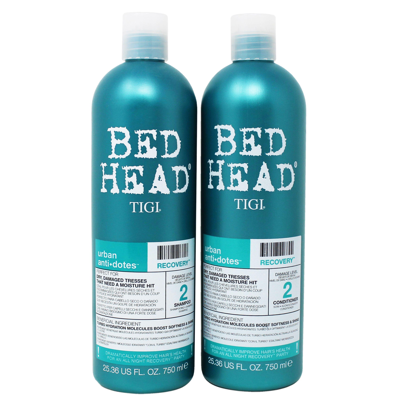 Tigi Bed Head Shampoo And Condtioner Urban Anti Dotes Damage Level 2 Recovery Shampoo And Conditioner 25 36 Fl Oz 2 Pack Walmart Com Bed Head Shampoo Bed Head Tigi