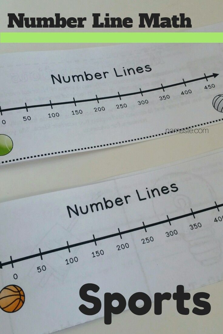 Sports Theme Number Line Book/Center - Addition, Subtraction, and ...