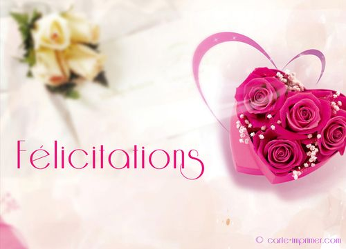 Carte Mariage Felicitations Gratuite A Imprimer