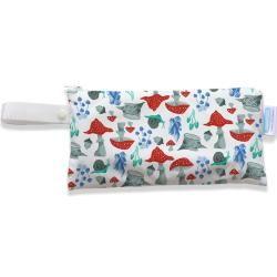 Photo of Thirsties – Clutch Bag (14x27cm) – Handbag / Wetbag with loop – Forest Frolic Thirsties