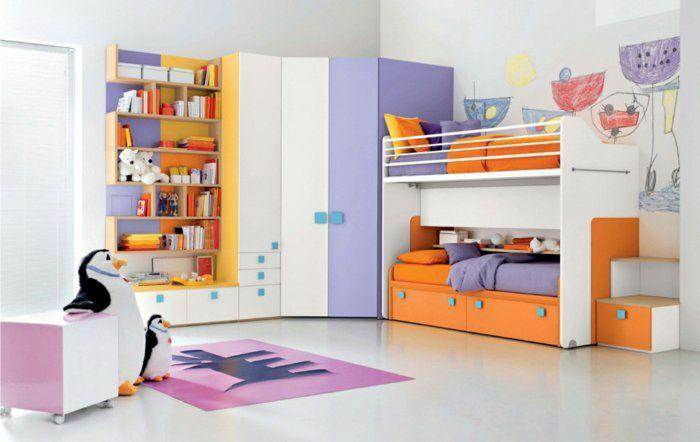 Wohnideen Jugendzimmer Wandfarbe wohnideen kinderzimmer weiße wandfarbe akzente offene wandregale