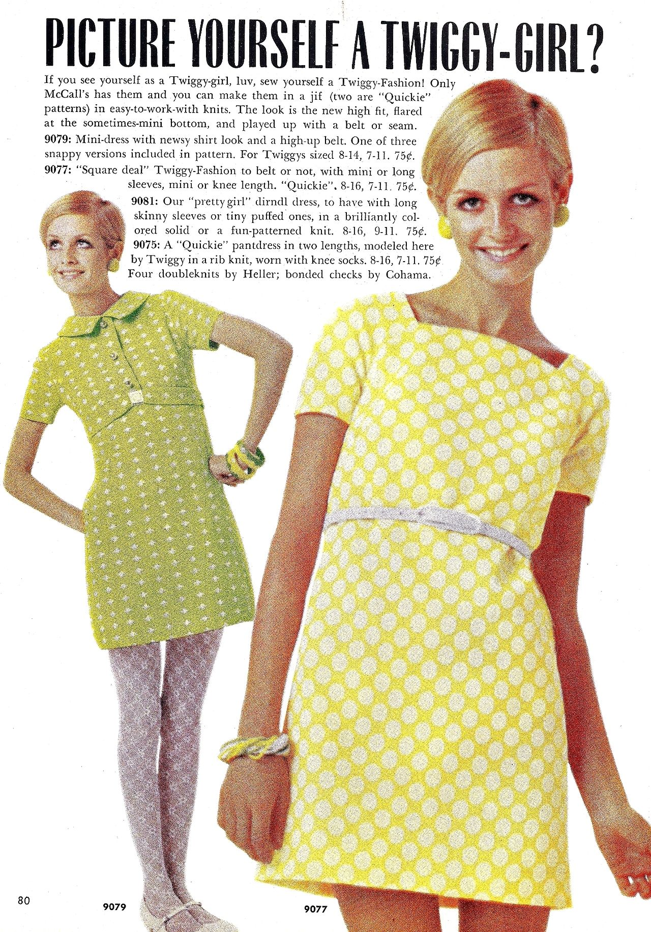 Vintage Fashion And Beauty Twiggy Models Dresses In