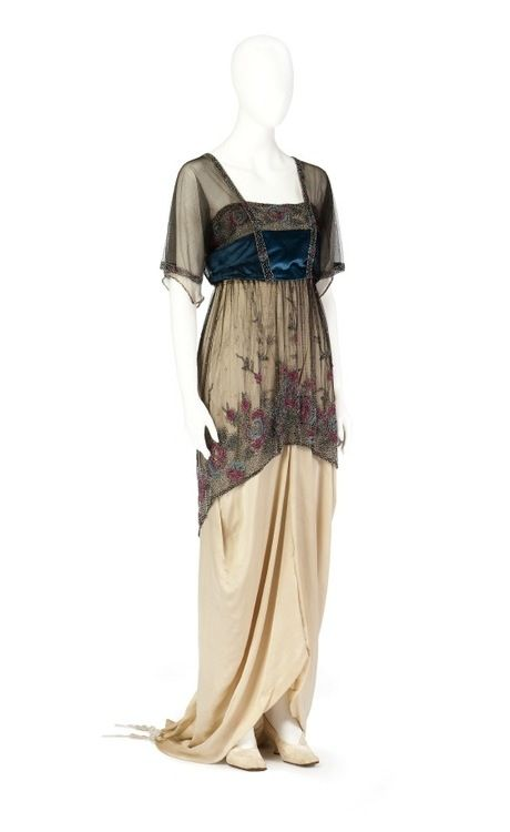 Edwardian Evening dress, 1910s | Pretties | Pinterest | Edwardian ...