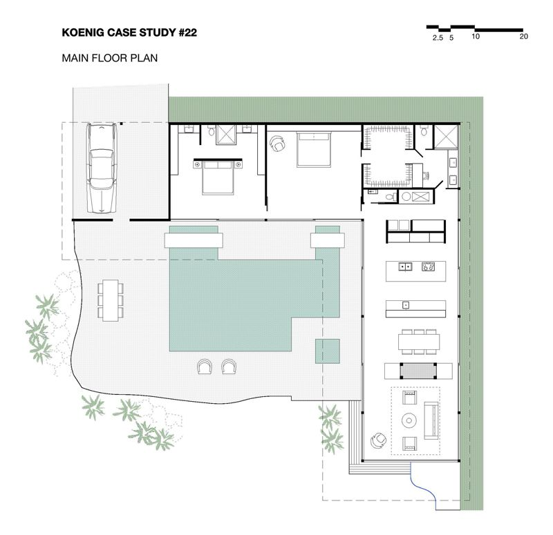 stahl-house-planjpg (800×775) Architecture interior Pinterest