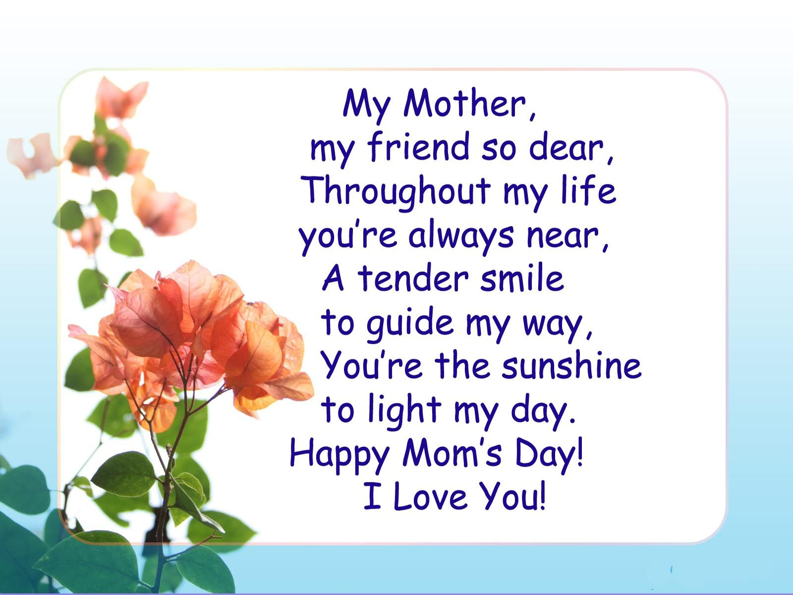 mothers day poems - Google Search | international days | Pinterest ...