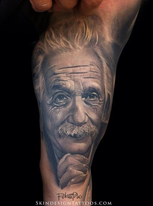 Einstein Tattoos Prince Of Darkness Portrait