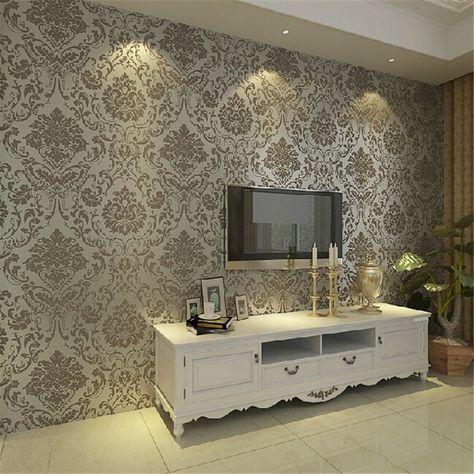 Best Beibehang Embossed Bedroom Wallpaper Modern Damask Wallpaper White Wallcovering Classic Wall 640 x 480