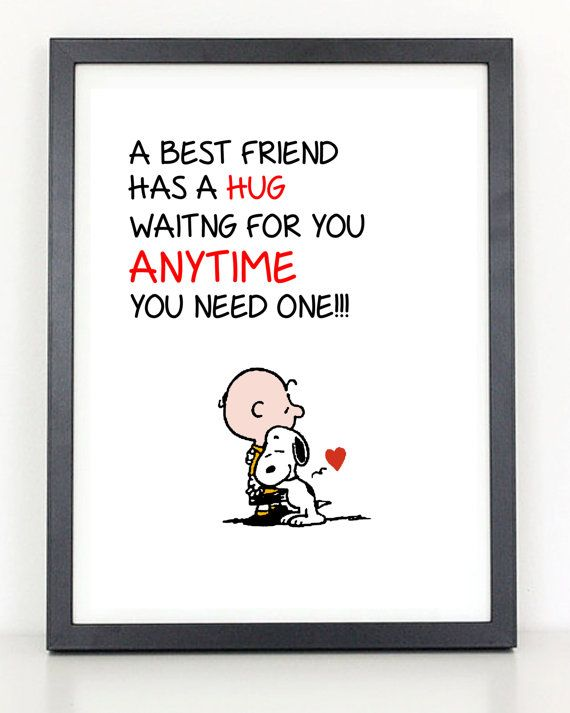 Charlie brown and snoopy best friend hug by for Charlie brown zitate