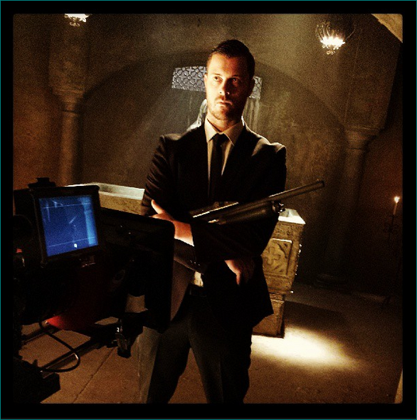 Dan Feuerriegel - Dan does bad guy pretty damn good if you ask me  (Philip Barantini on the set of the film Cryptic)