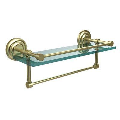 """Allied Brass Que New 16"""" W Bathroom Shelf Finish: Satin Brass"""