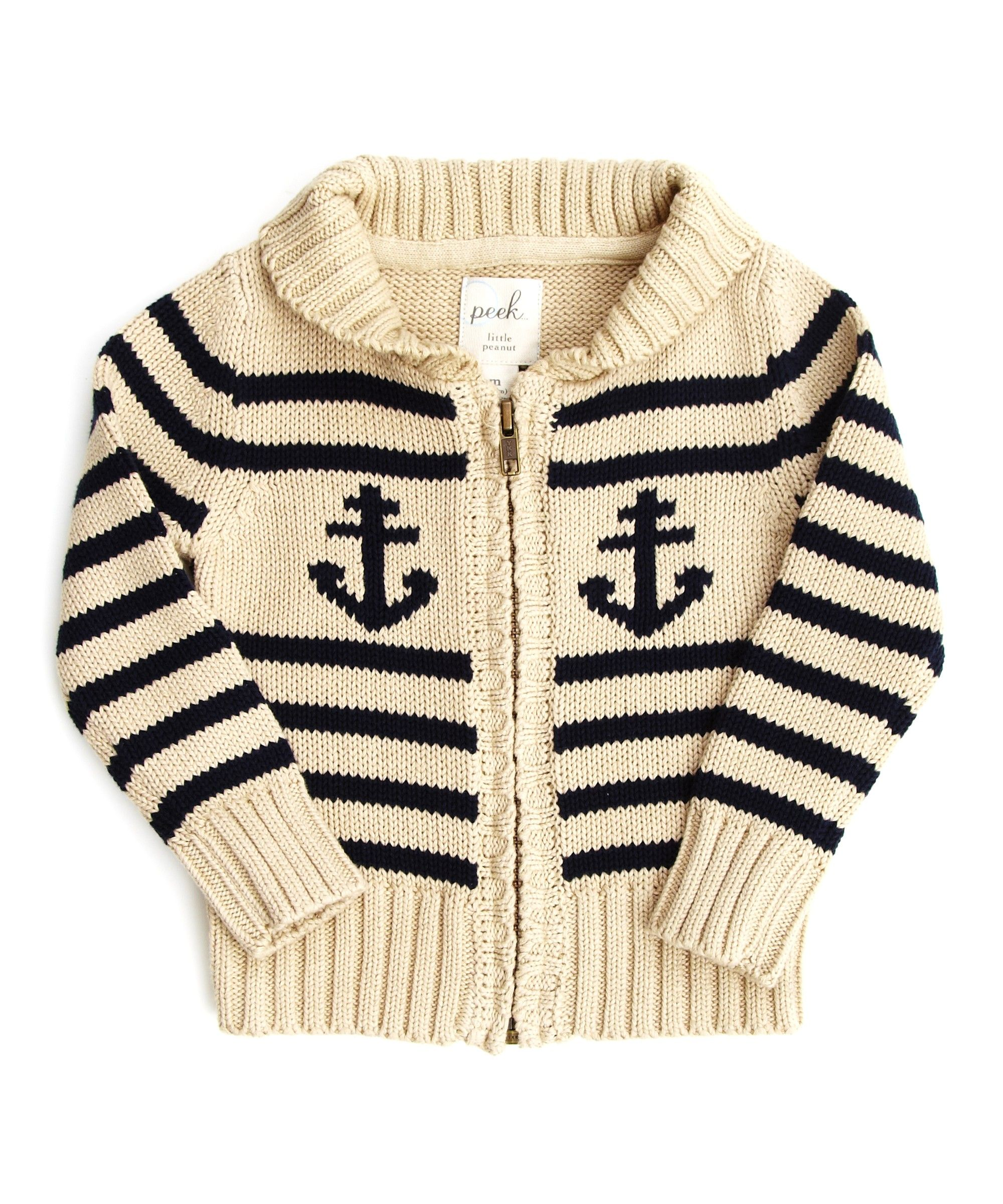Baby Anchor Full Zip Peek Kids Clothing