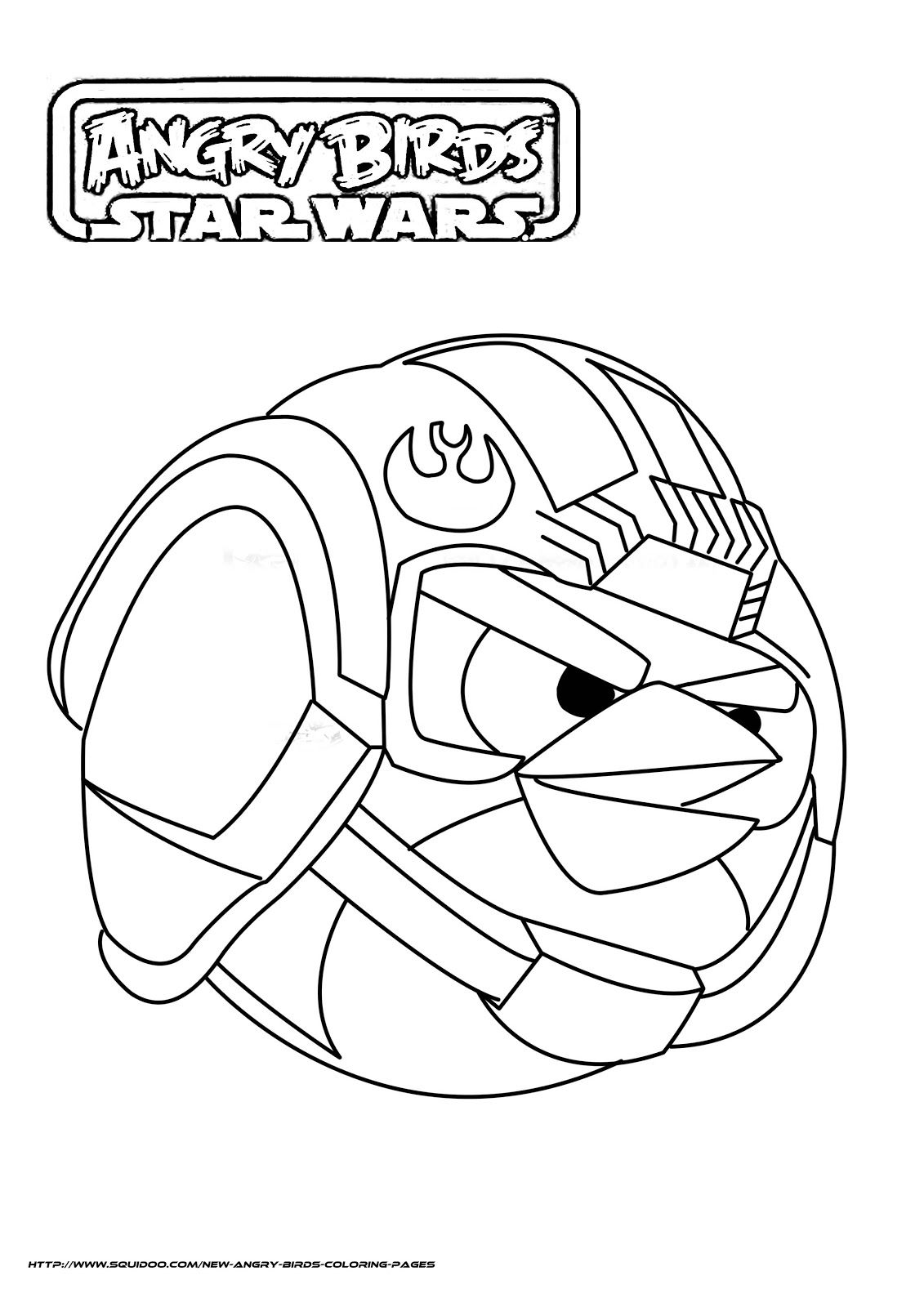 angry birds star wars coloring pages  Birthday Ideas  Pinterest
