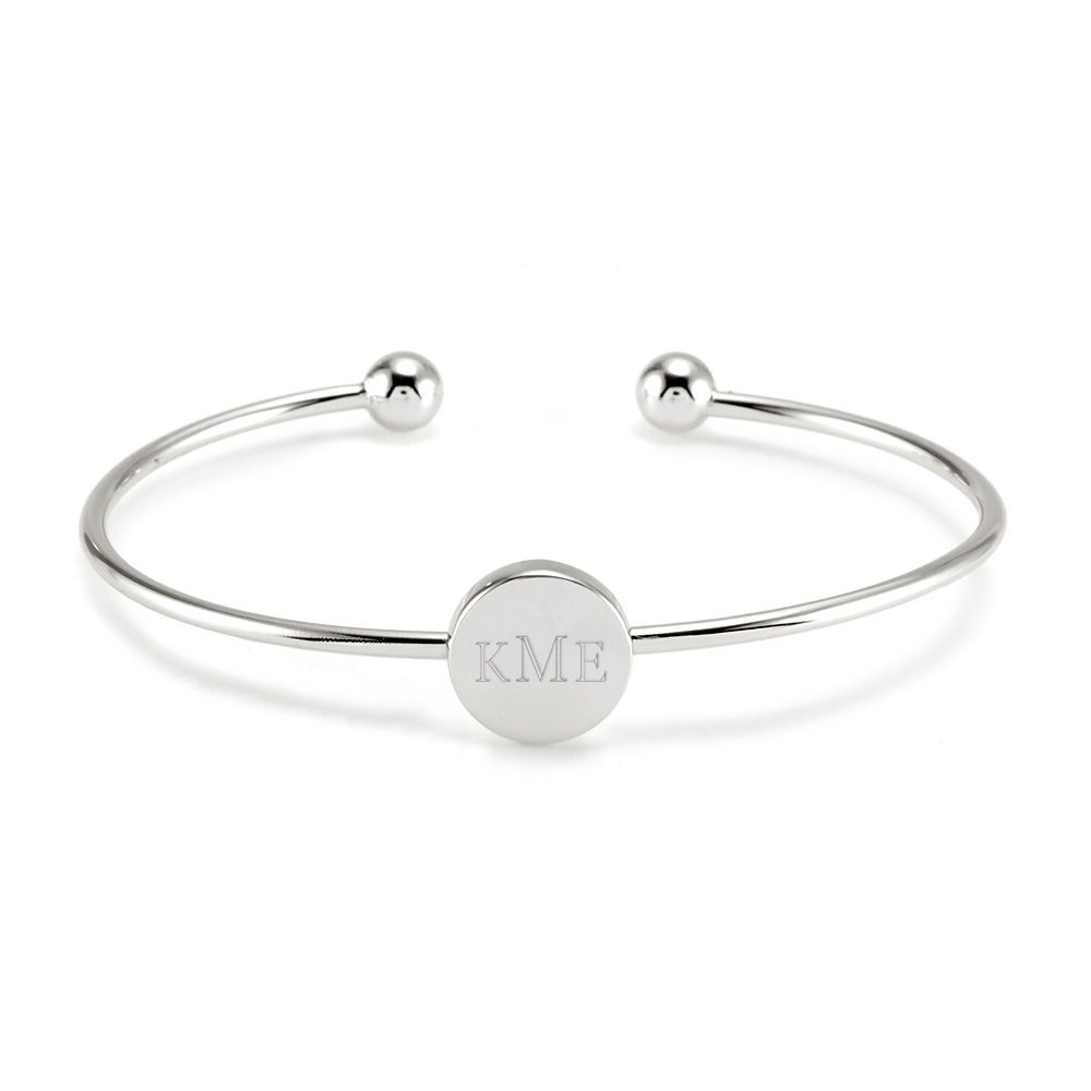 Piercing bump inside nose  Sterling silver monogram cuff bracelet at Eveus Addiction Circle