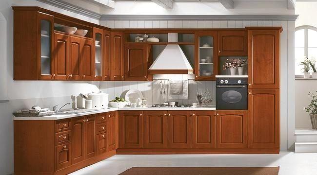 cocina-rustica-de-madera-pared-blanca Escalera Vieja Pinterest - escaleras de madera rusticas