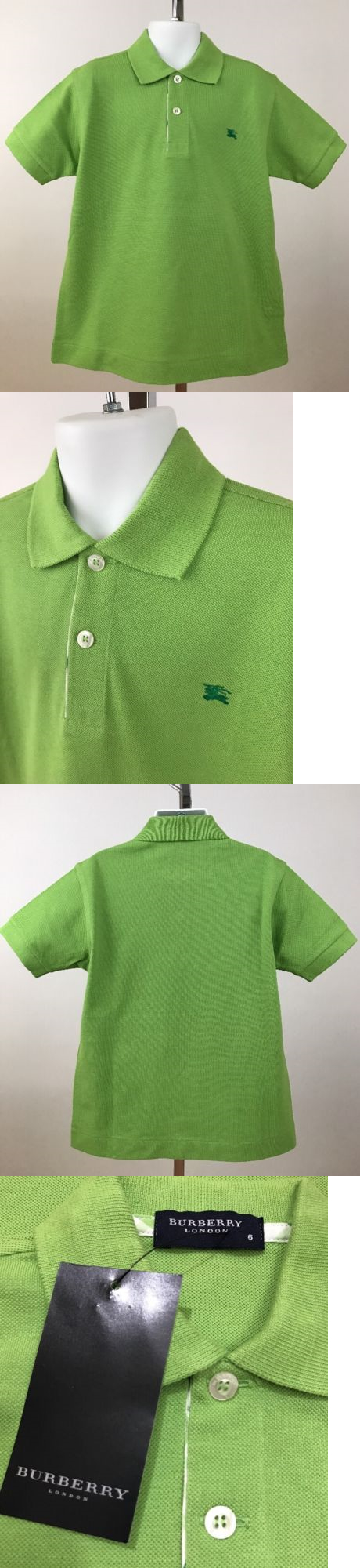 d1d881853 Tops Shirts and T-Shirts 175521  Nwt Burberry London Boy S Lime Green Polo  Shirt Sz 6Y -  BUY IT NOW ONLY   49 on eBay!