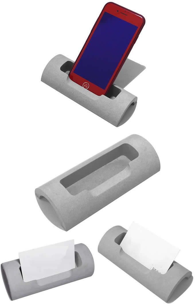 Concrete Business CardCell Phone holder