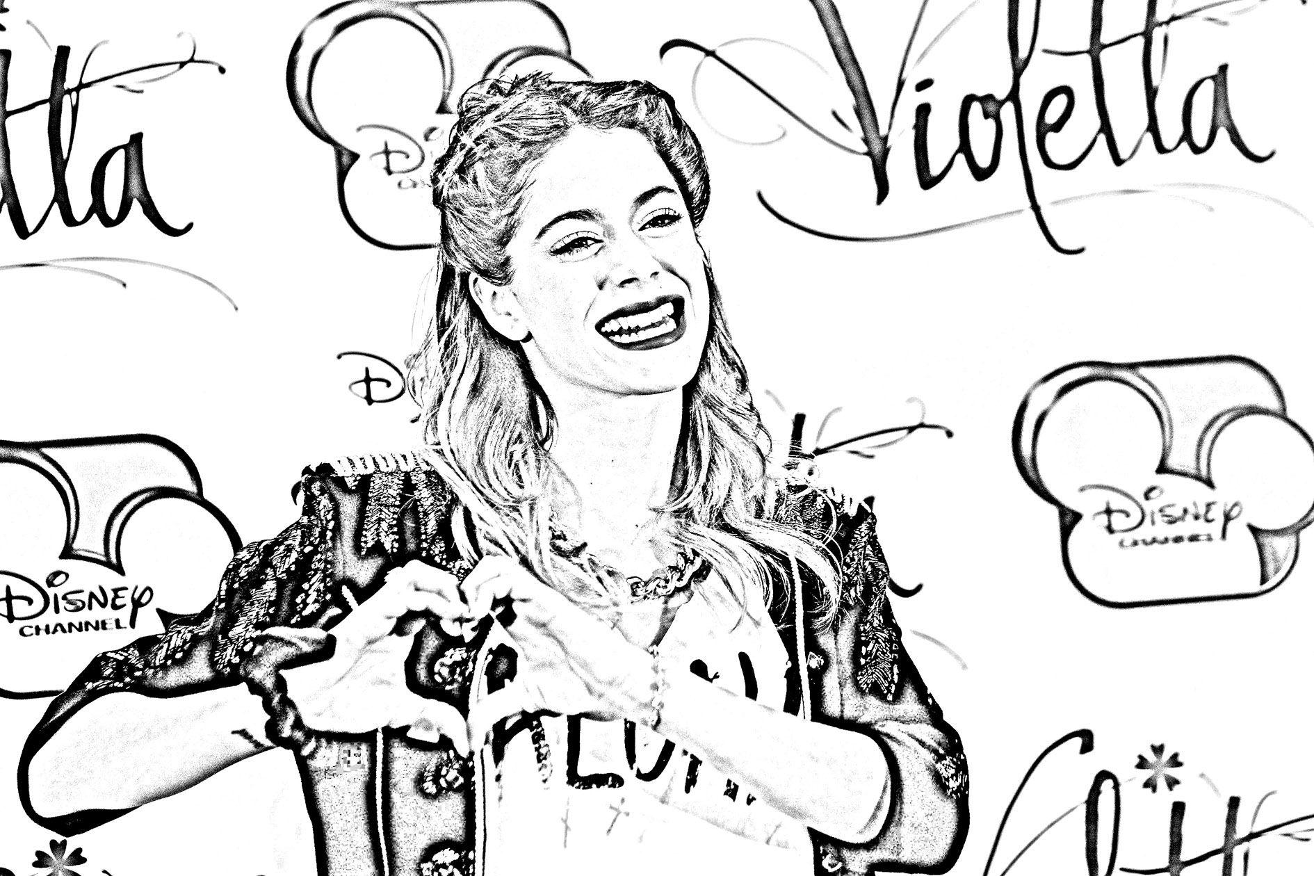 pour imprimer ce coloriage gratuit coloriage martina stoessel coeur cliquez - Coloriage Gratuit Violetta