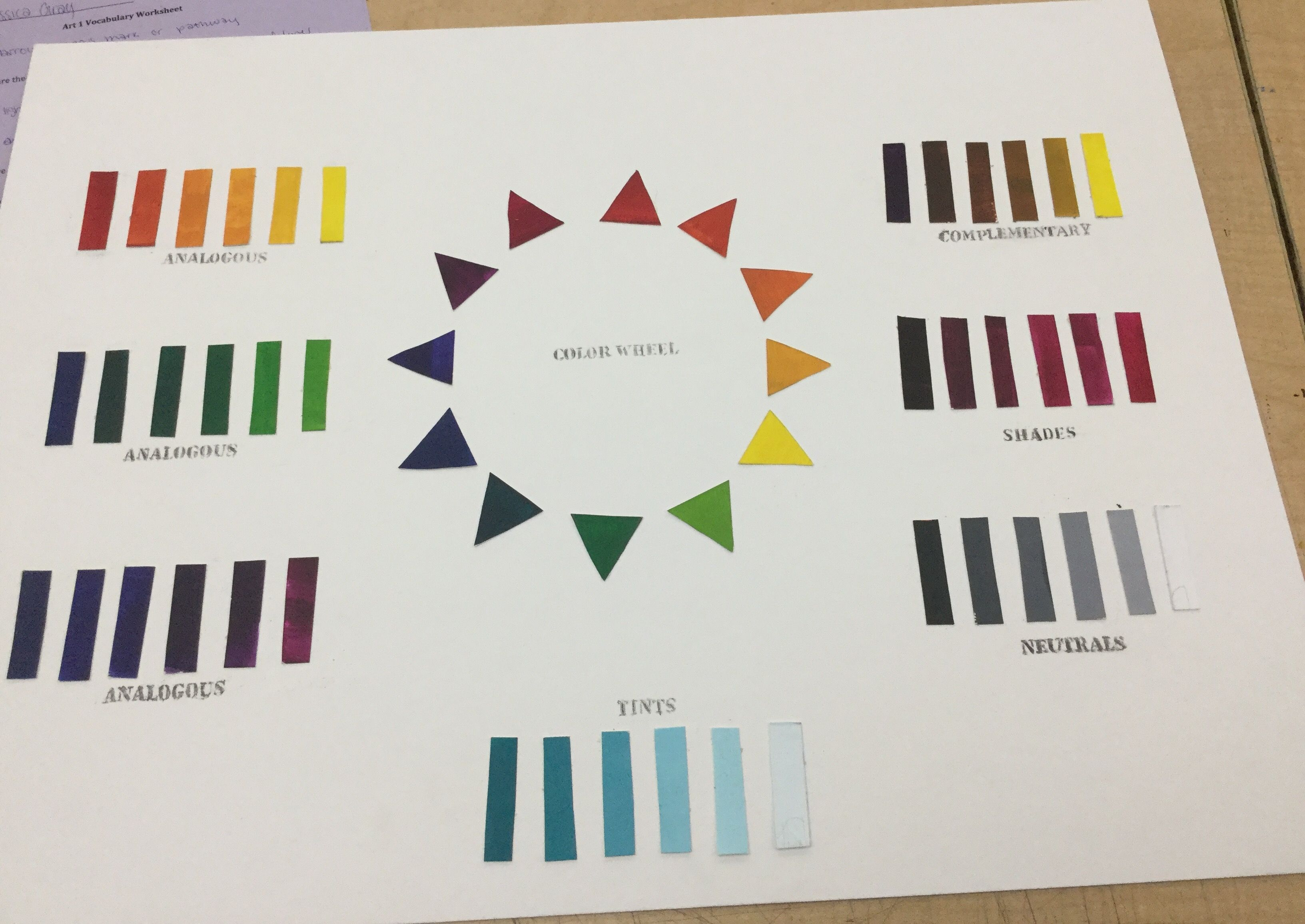 Color Chart Color, Shades, Office supplies