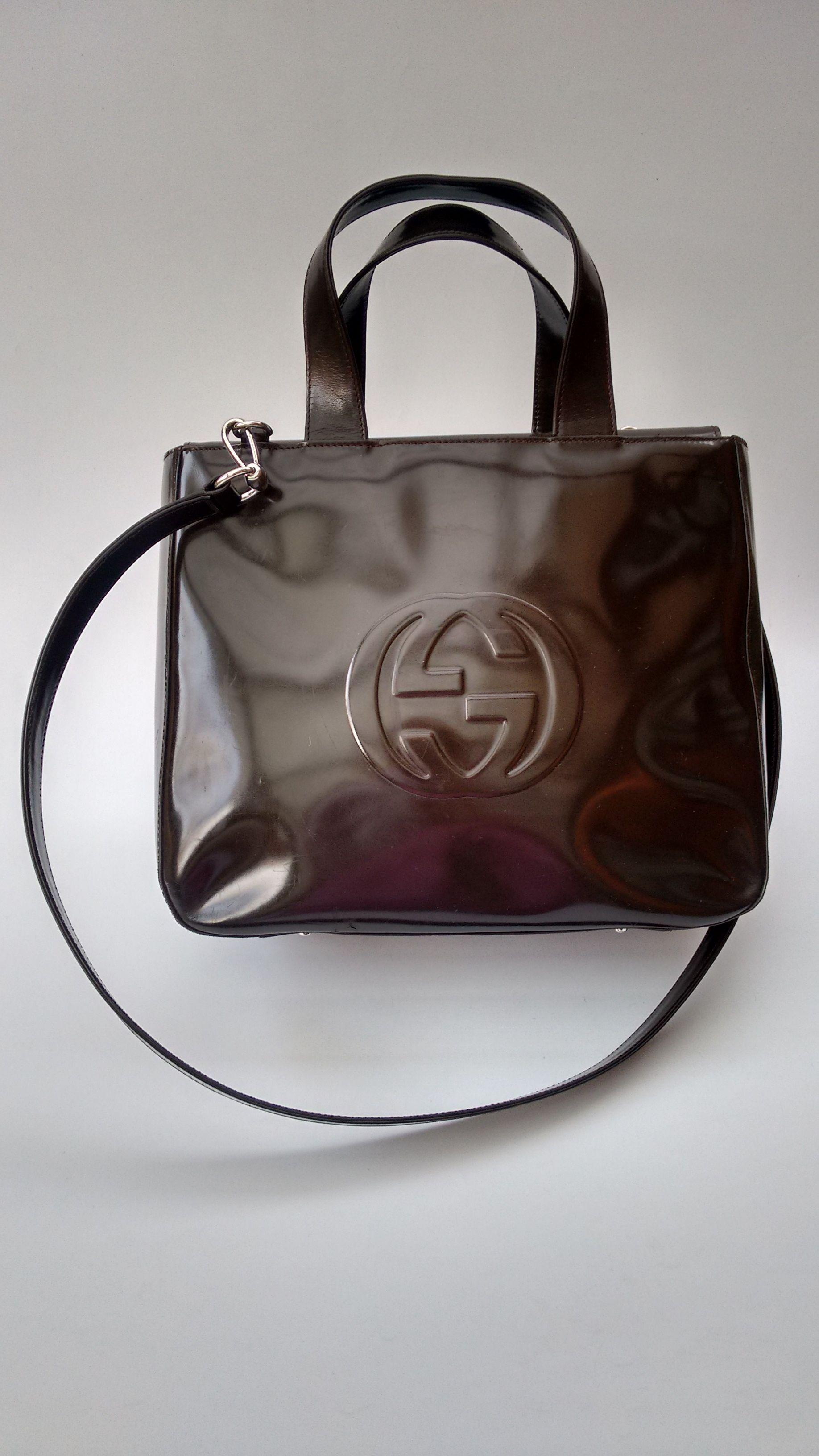 Gucci Bag Gucci Vintage Brown Leather Shoulder Bag Italian Designer Purse Tom Ford Era Brown Leather Shoulder Bag Gucci Bag Vintage Gucci