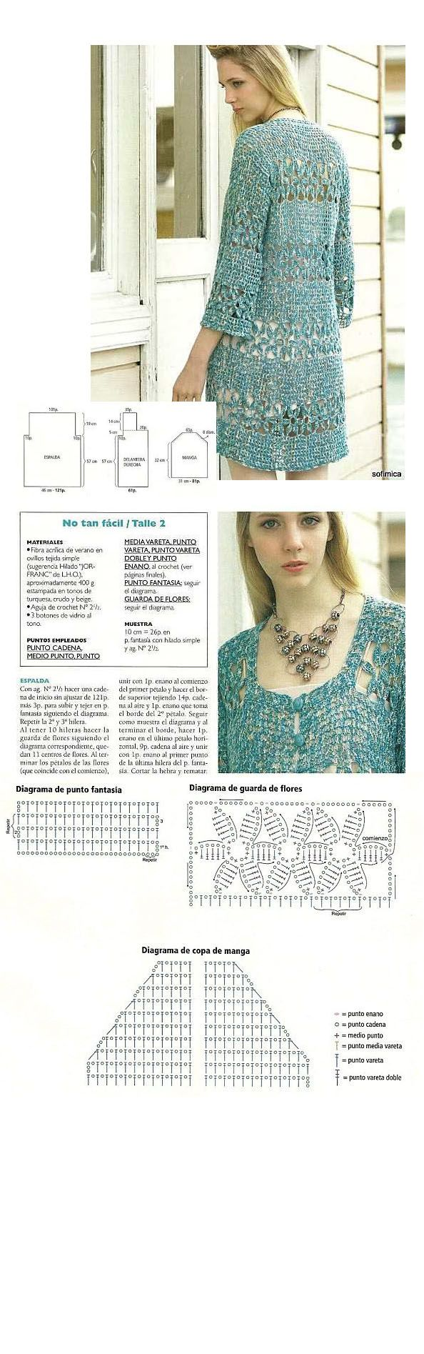 molde 1 | CROCHET | Pinterest | Suéteres largos, Chaleco crochet y ...
