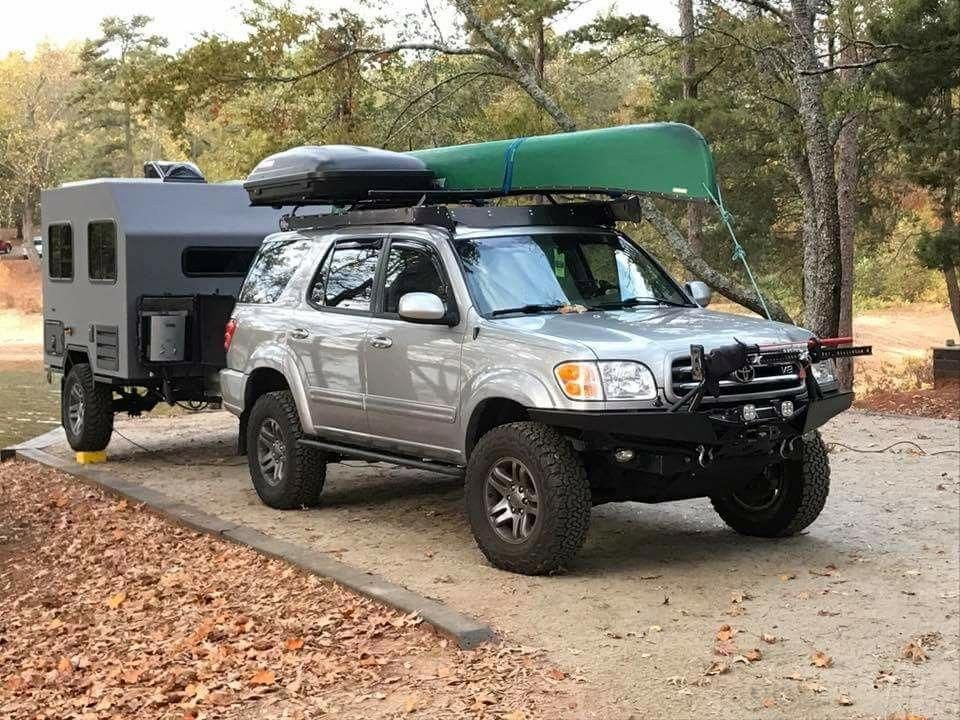 Sequoia Motorcyclecampinggearideasawesome In 2020 Toyota Suv Ford Ranger Truck Motorcycle Camping Gear