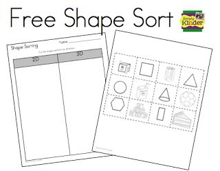 shape sorting freebie math 2d 3d shapes preschool math math classroom math lessons. Black Bedroom Furniture Sets. Home Design Ideas