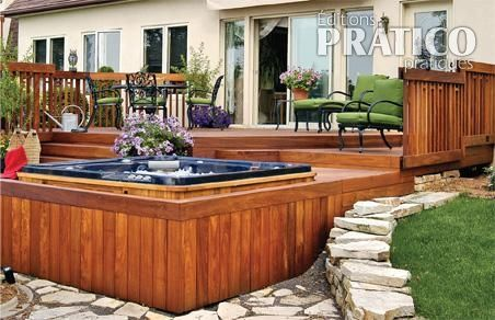 Patio et spa google search c t jardin pinterest for Spa et patio