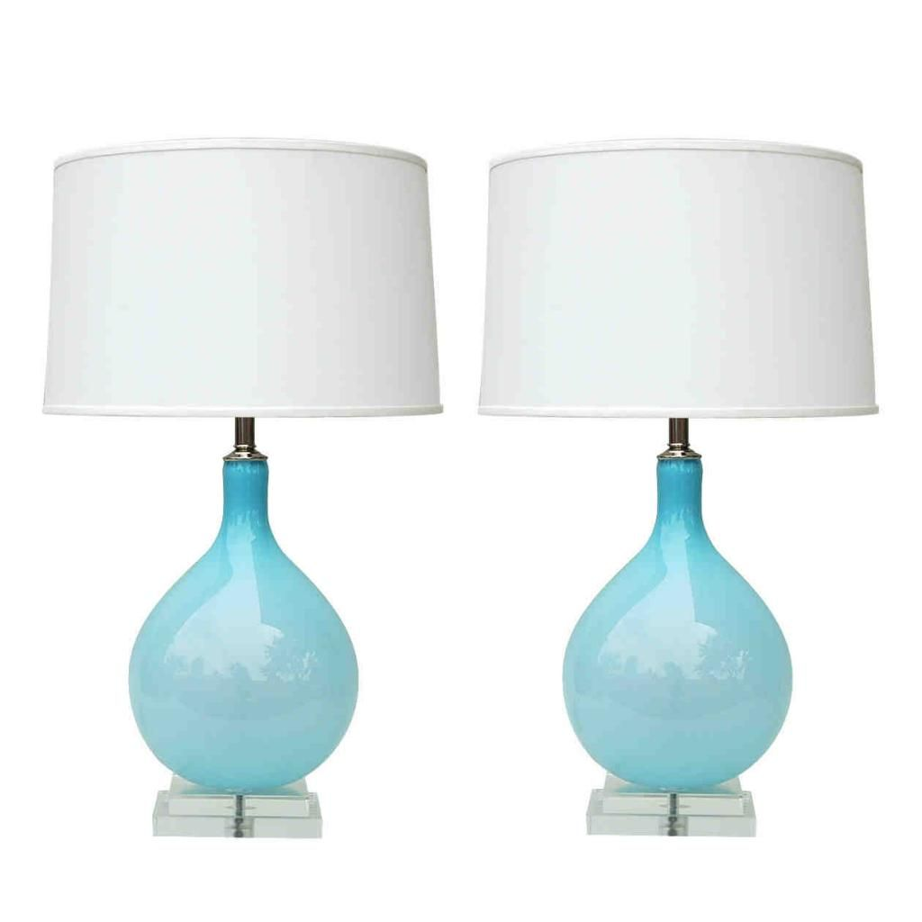 CHEAP TO CHIC: A GOOD LIGHT BLUE GLASS LAMP IS ACTUALLY HARD TO ...