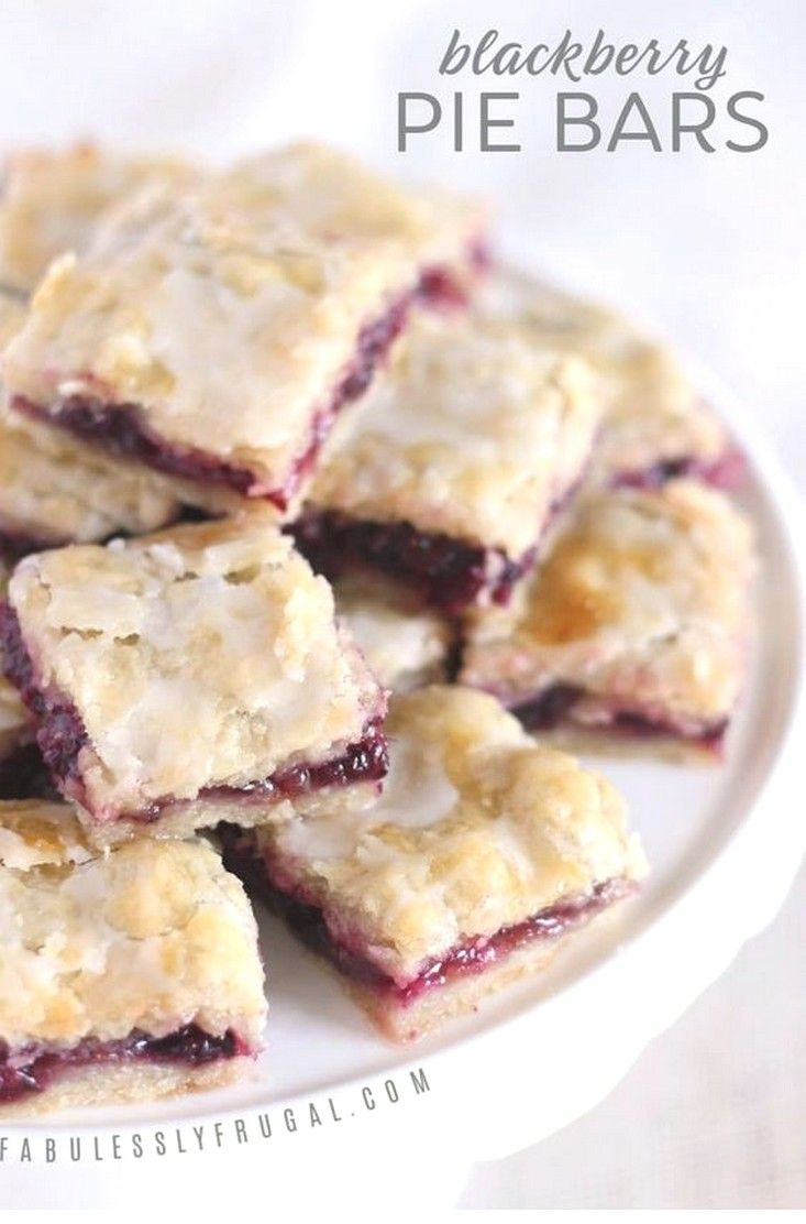 Easy Blackberry Pie Bars Recipe With Images Pie Bar Recipes