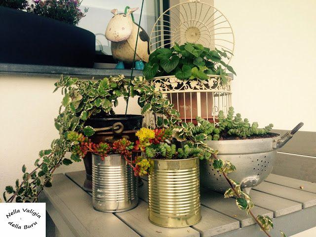 Giardino e balcone: realizzare vasi fai da te con materiale ...