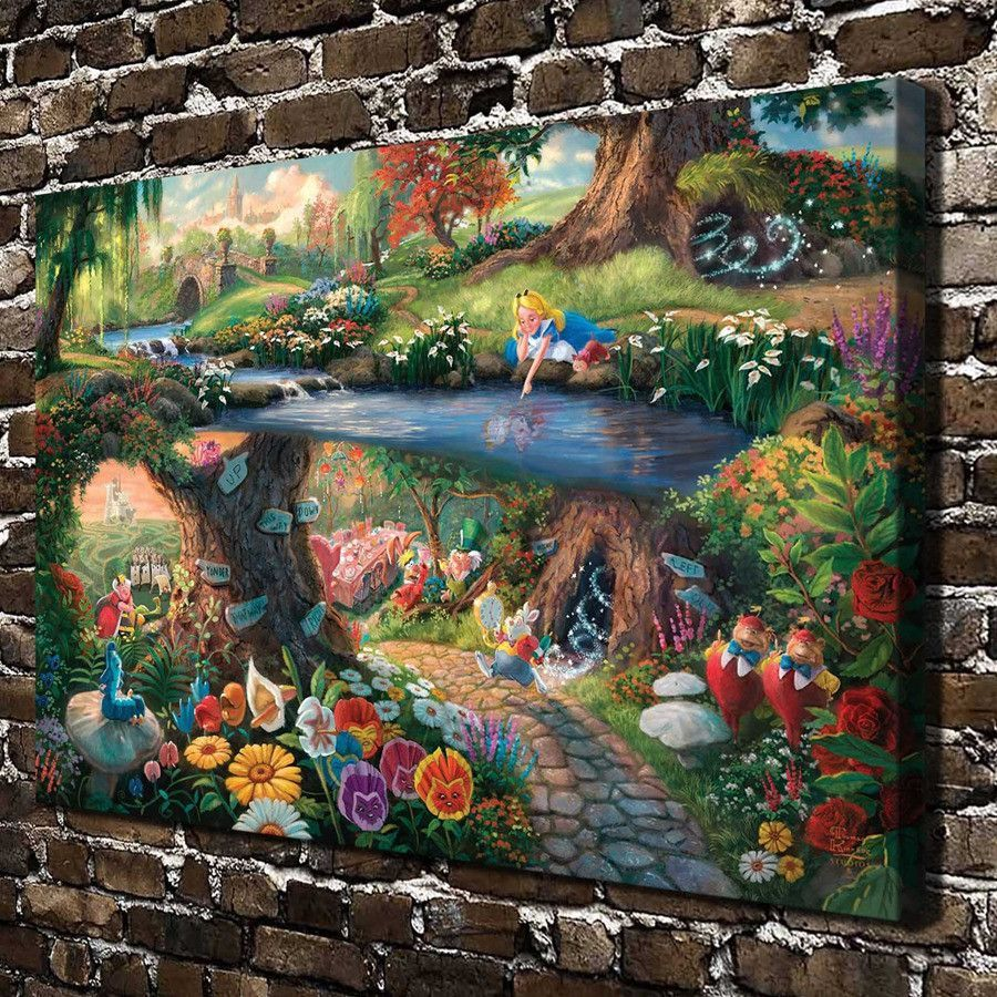 Alice in Wonderland HD Canvas printed Home decor painting room Wall art poster