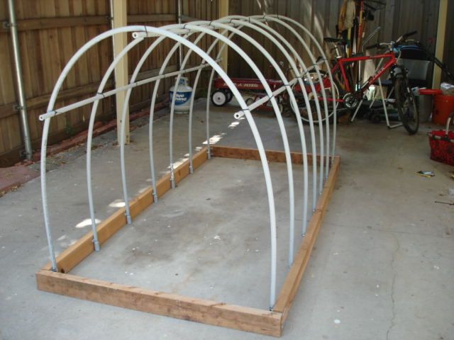 Mini Hoop House To Toss Over A Raised Bed Cover With Plastic To Protect Your Veggies From